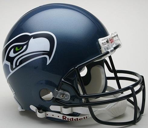 Seattle Seahawks 2002 to 2011 Football Helmet