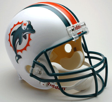 Miami Dolphins 1997 to 2012 Full Size Replica Throwback Helmet
