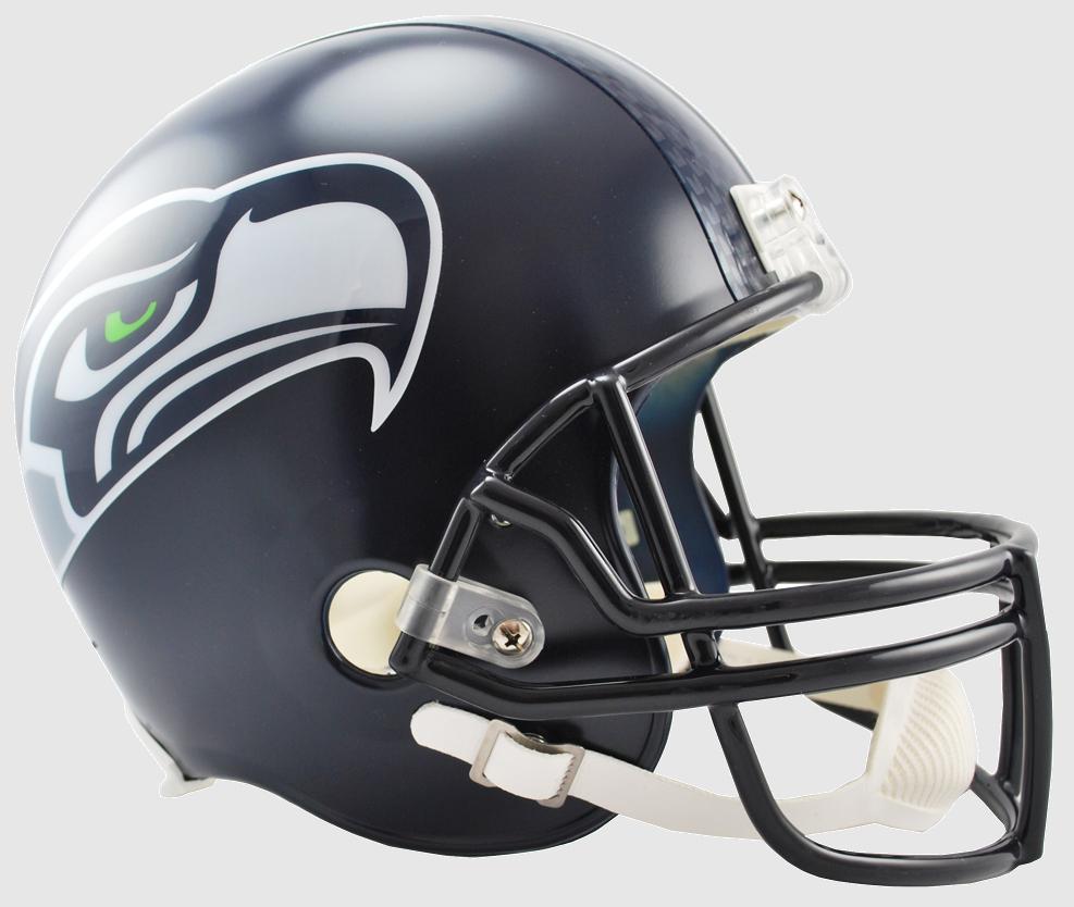 Seattle Seahawks Full Size Replica Football Helmet  <B>Matte Navy</B>