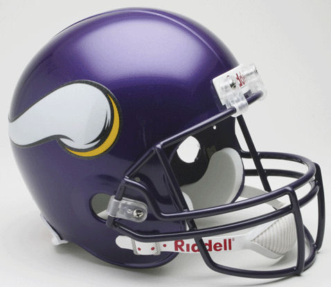 Minnesota Vikings 2006 to 2012 Full Size Replica Throwback Helmet