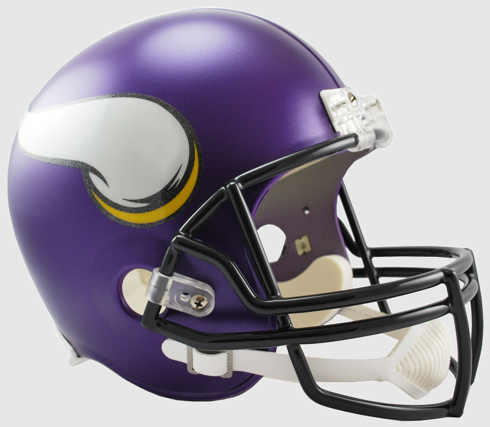 Minnesota Vikings Full Size Replica Football Helmet <B>Satin Purple</B>