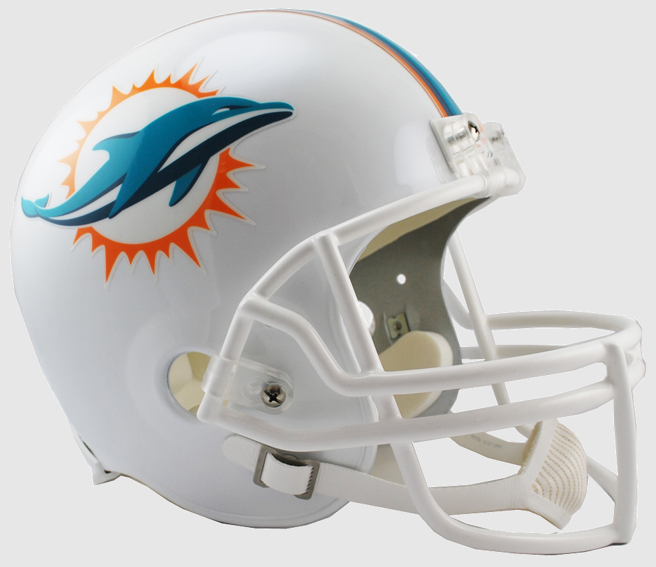 Miami Dolphins 2013 to 2017 Full Size Replica Throwback Helmet