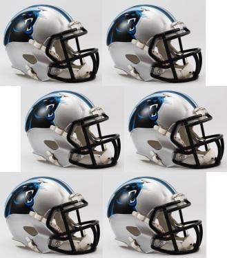 Carolina Panthers NFL Mini Speed Football Helmet 6 count