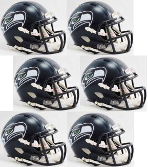 Seattle Seahawks NFL Mini Speed Football Helmet 6 count