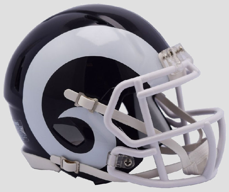 Los Angeles Rams NFL Mini Speed Football Helmet <B>NEW 2017</B>