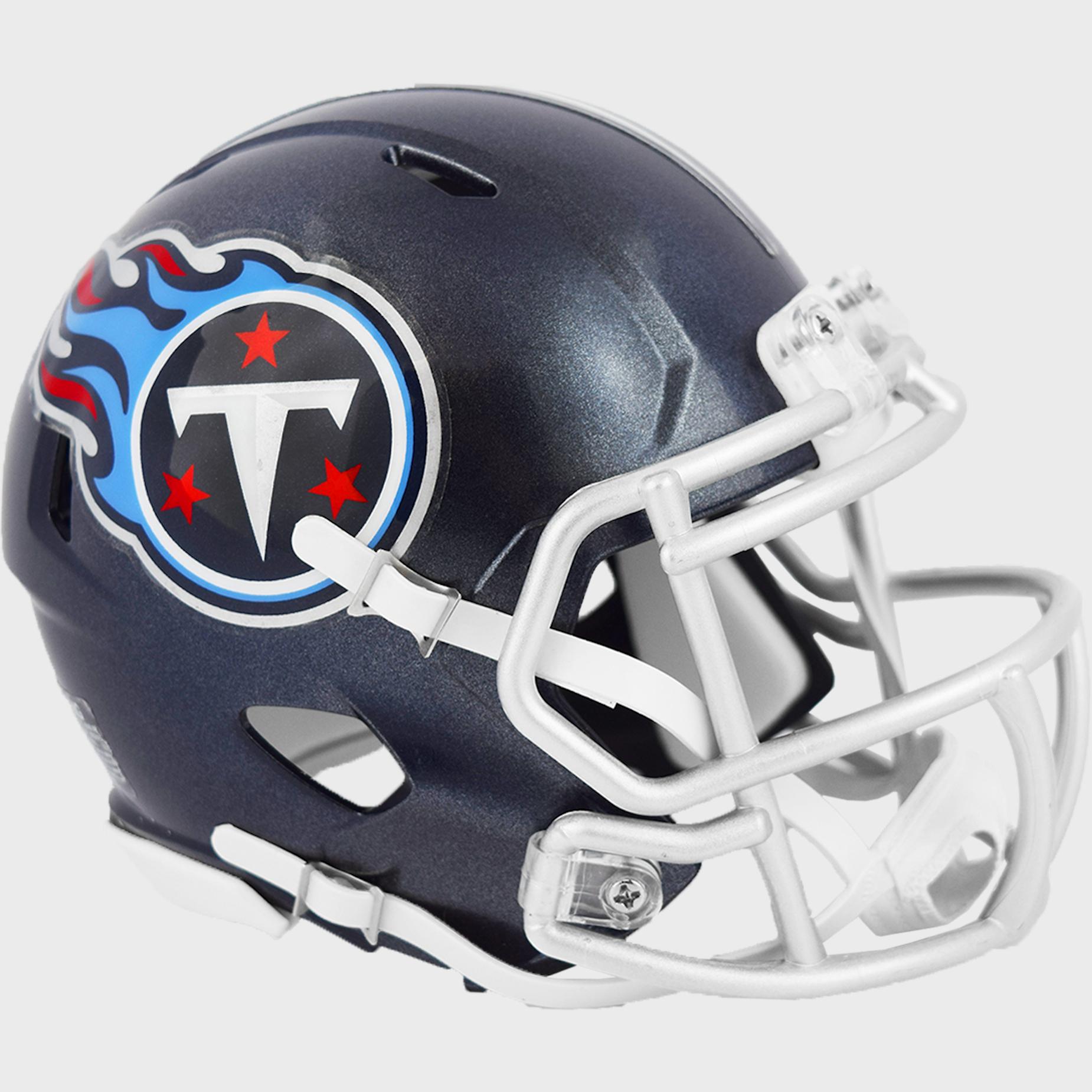 Tennessee Titans NFL Mini Speed Football Helmet <B>Satin Navy Metallic</B>