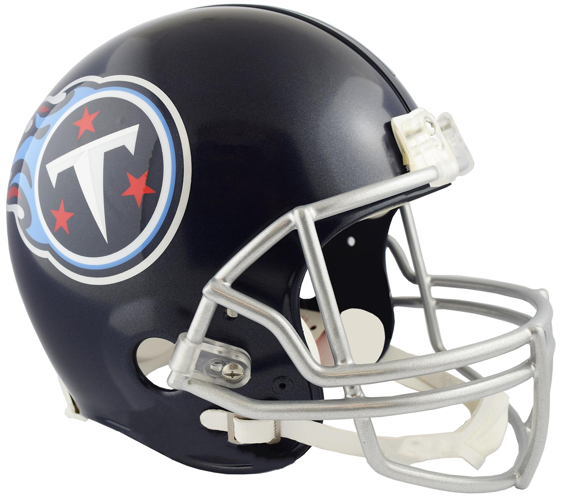 Tennessee Titans Full Size Replica Football Helmet <B>NEW 2018 Satin Navy Metallic</B>