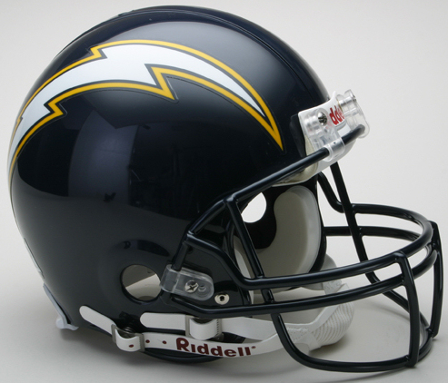 San Diego Chargers 1988 to 2006 Football Helmet