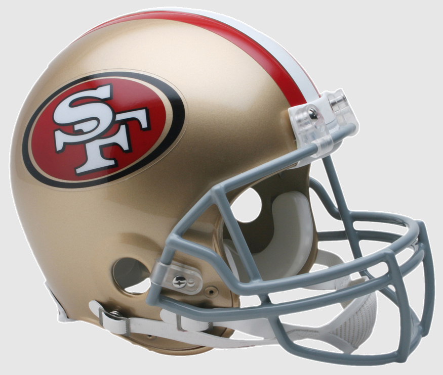 San Francisco 49ers Football Helmet