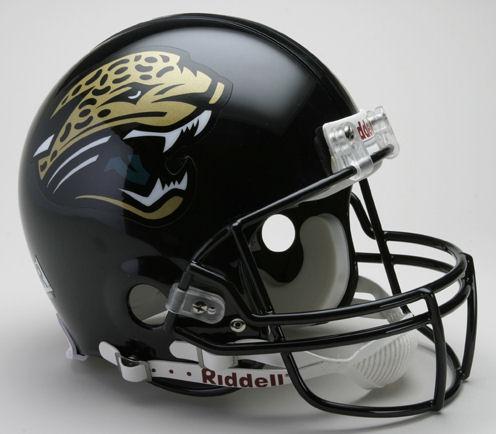 Jacksonville Jaguars 1995 to 2012 Football Helmet