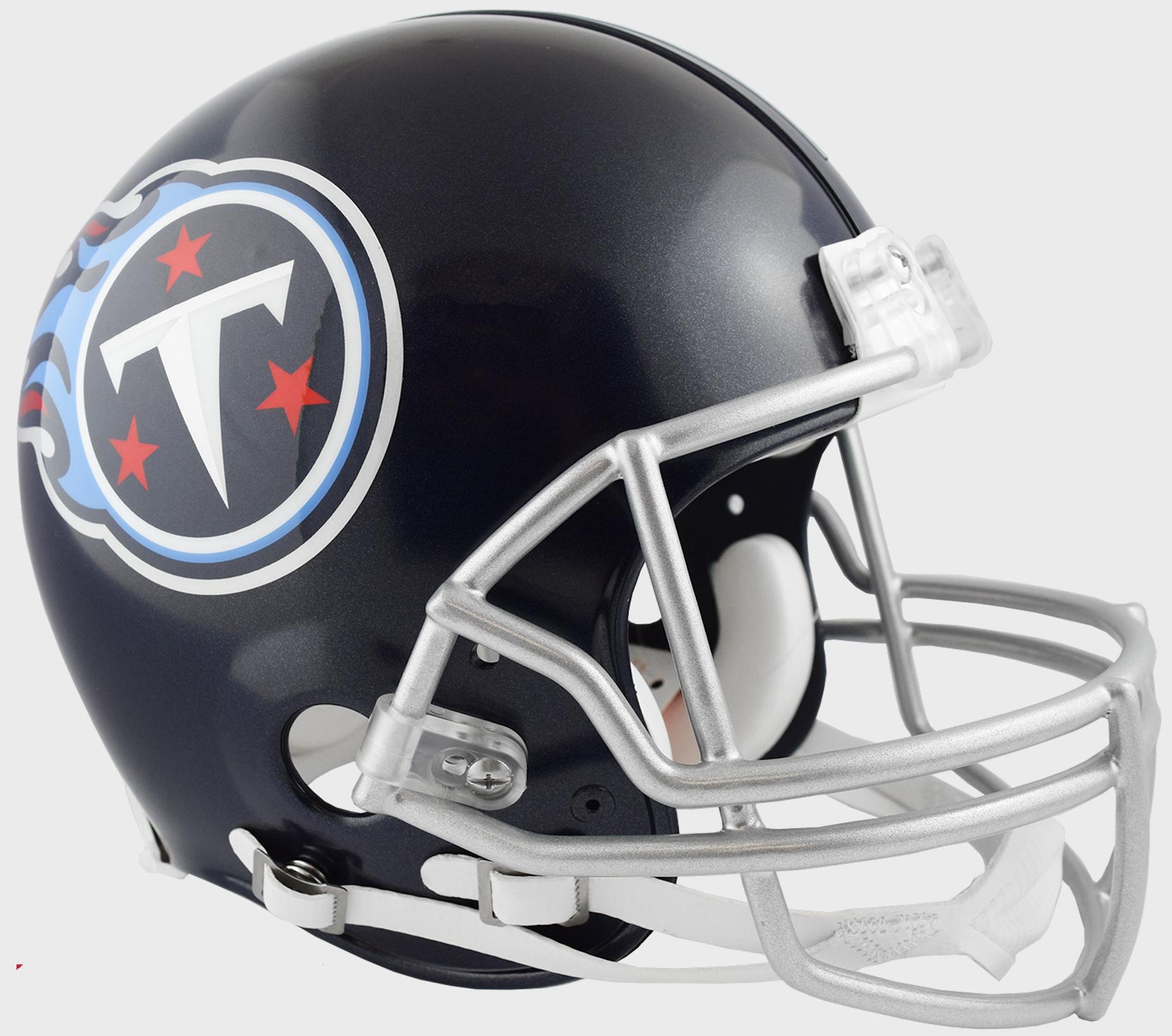 Tennessee Titans Football Helmet <B>Satin Navy Metallic</B>