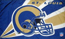 St. Louis Rams Helmet Flag