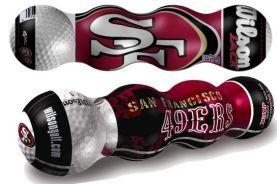 San Francisco 49ers Wilson Jack Golf Ball