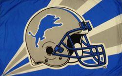 Detroit Lions Helmet Flag