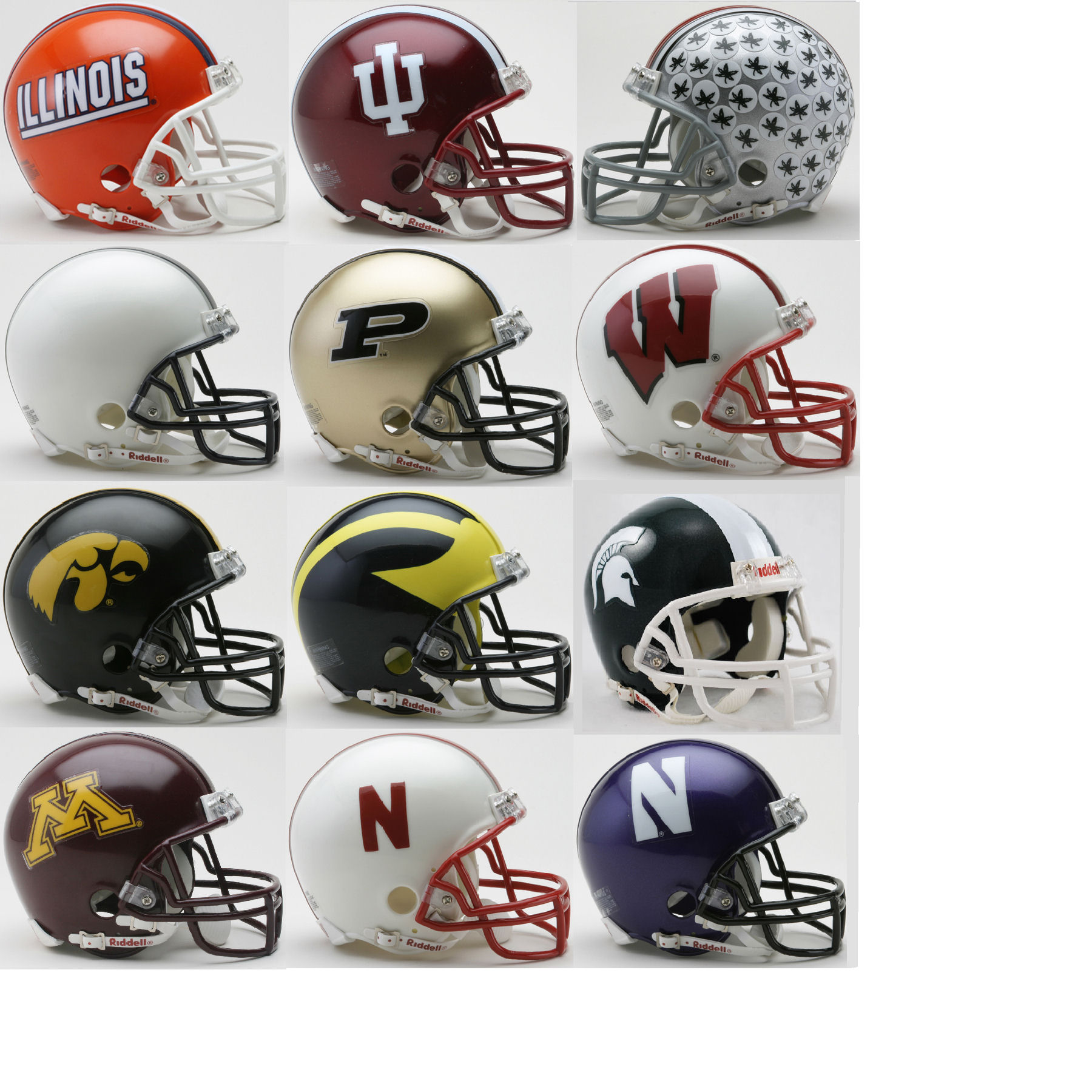 Big Ten Mini Speed Football Helmet Conference Riddell NCAA Helmets