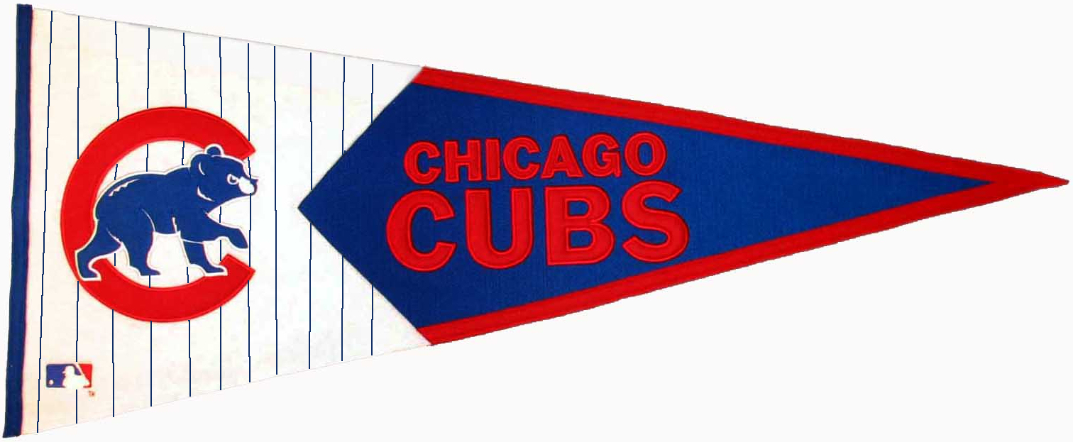 Chicago Cubs MLB Pennant Wool