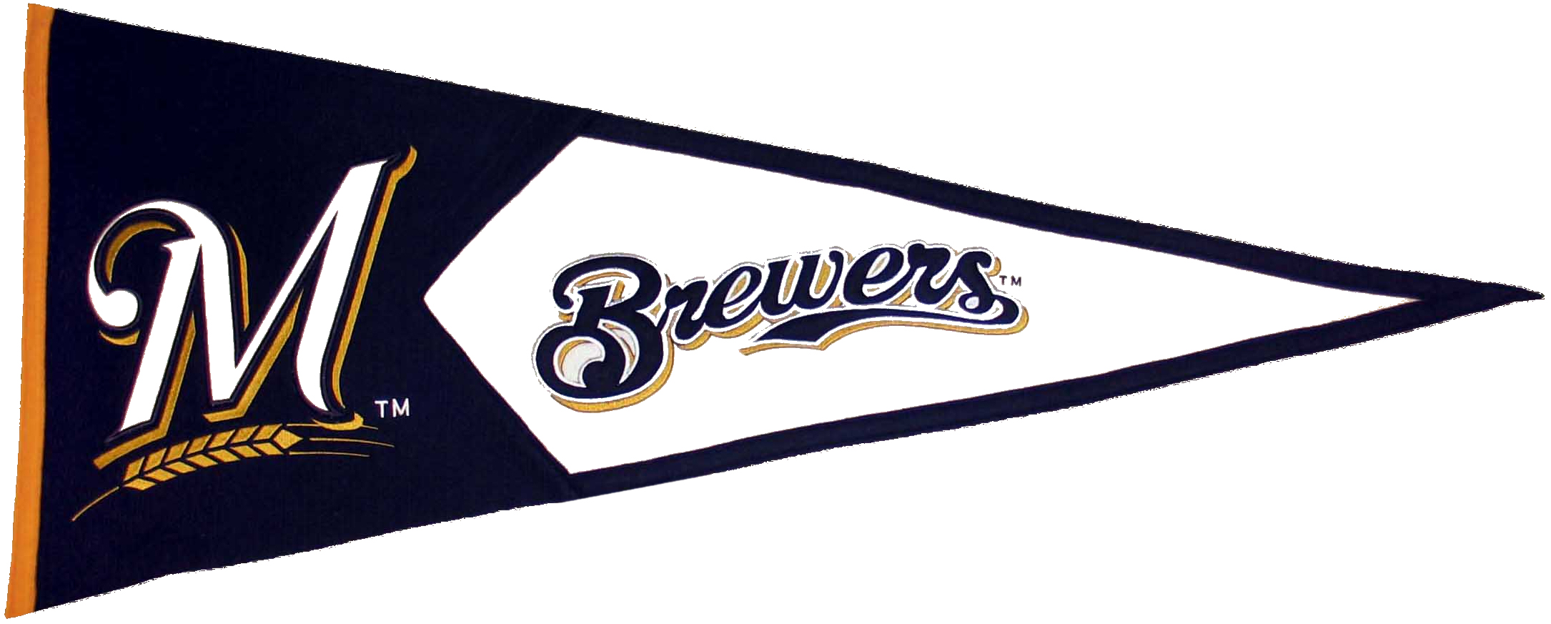 Milwaukee Brewers MLB Pennant Wool