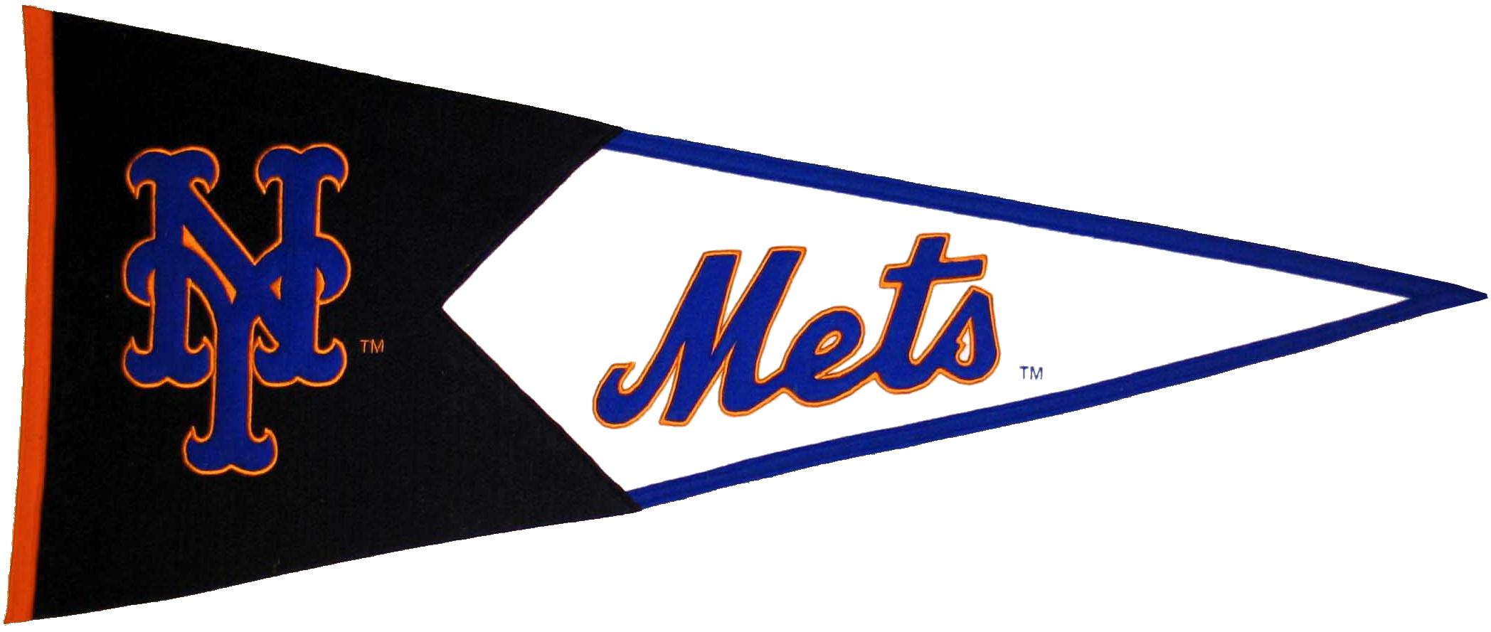 New York Mets MLB Pennant Wool