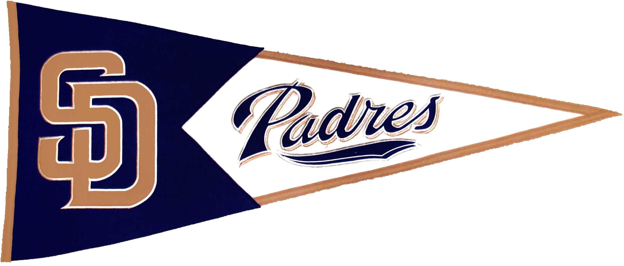 San Diego Padres MLB Pennant Wool