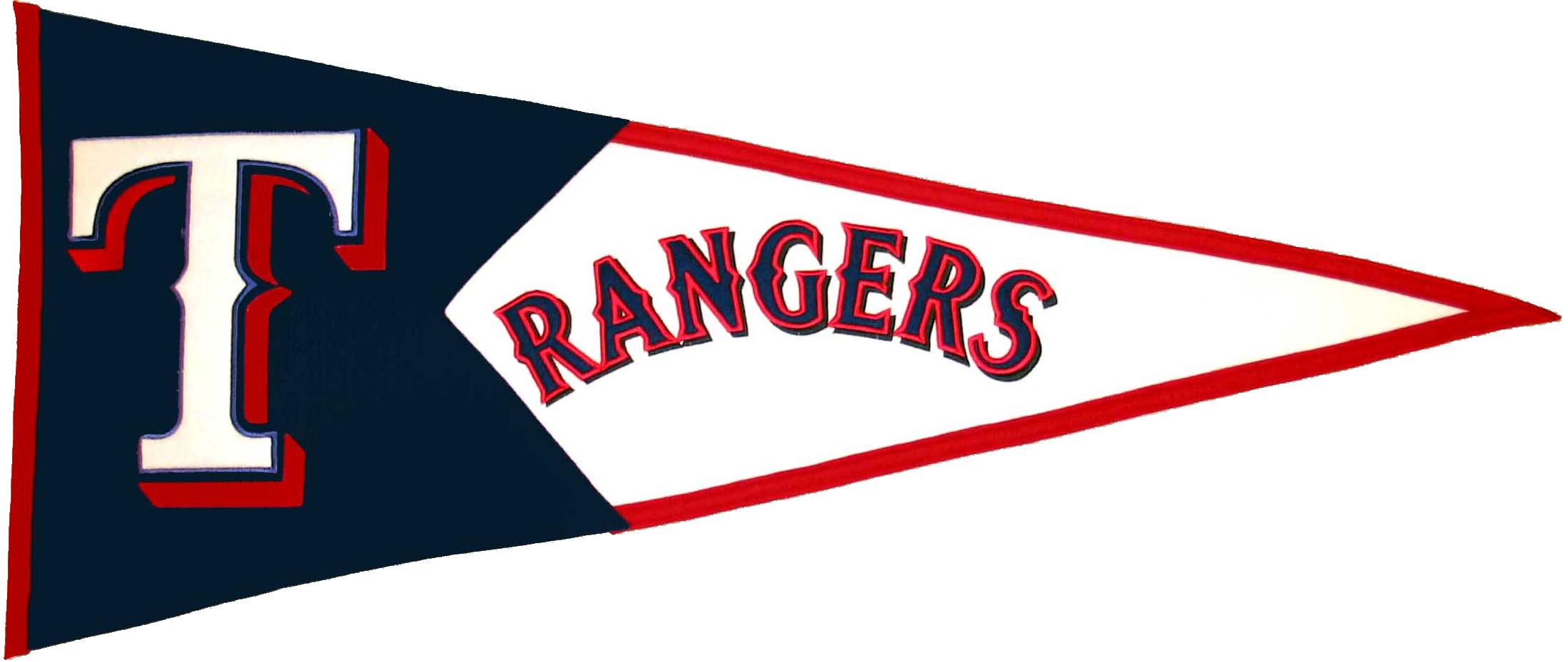Texas Rangers MLB Pennant Wool