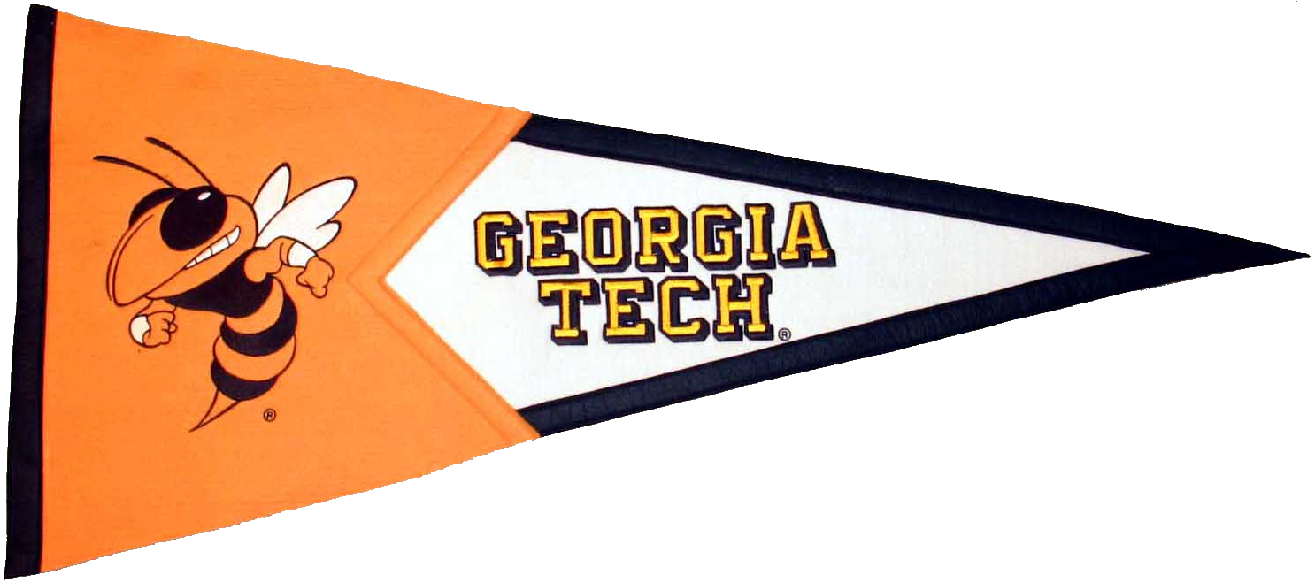 Georgia Tech Yellow Jackets NCAA Pennant Wool