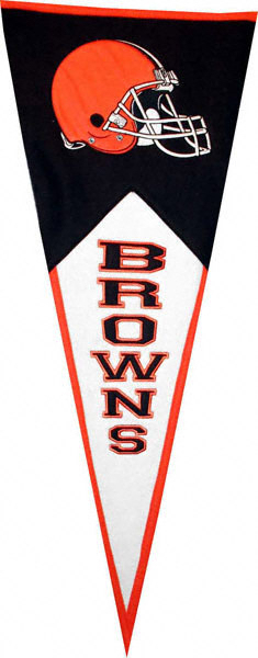 Cleveland Browns NFL Pennant Wool