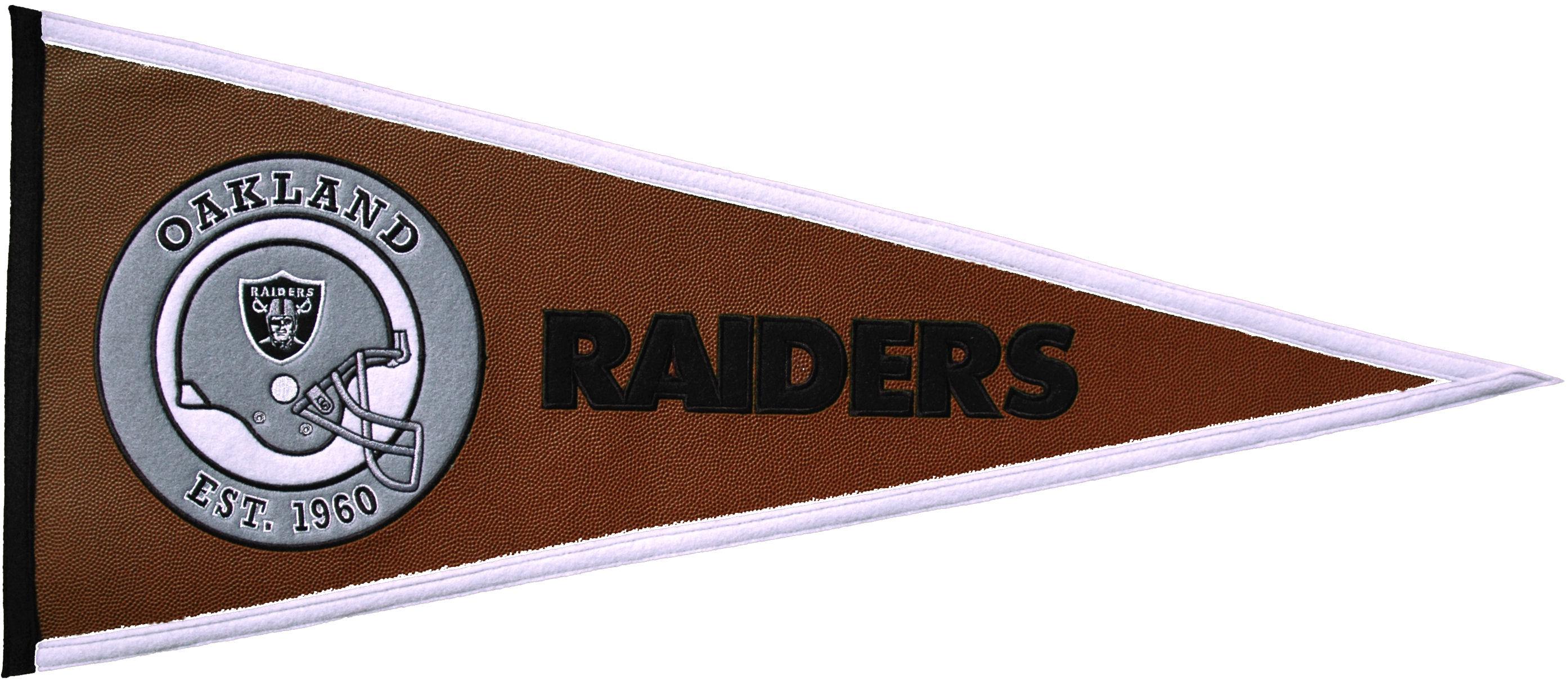 Oakland Raiders Pennant Leather