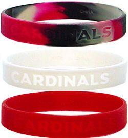 Arizona Cardinals Rubber Wristbands 3 Pack