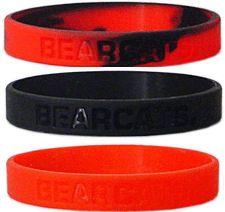 Cincinnati Bearcats Rubber Wristbands 3 Pack