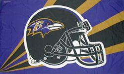 Baltimore Ravens Helmet Flag <B>BLOWOUT SALE</B>