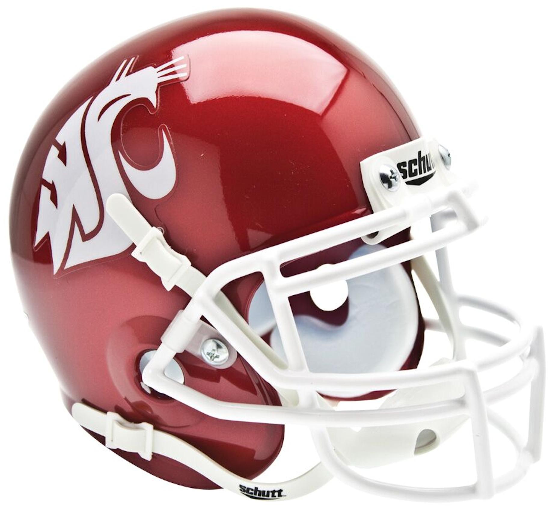 Washington State Cougars Mini XP Authentic Helmet Schutt <B>Scarlet</B>