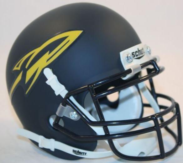 Toledo Rockets Mini XP Authentic Helmet Schutt <B>Matte Navy</B>
