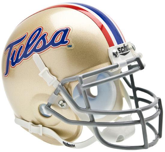 Tulsa Golden Hurricane Mini XP Authentic Helmet Schutt