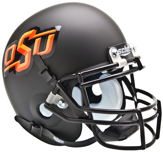 Oklahoma State Cowboys Mini XP Authentic Helmet Schutt <B>Matte Black</B>