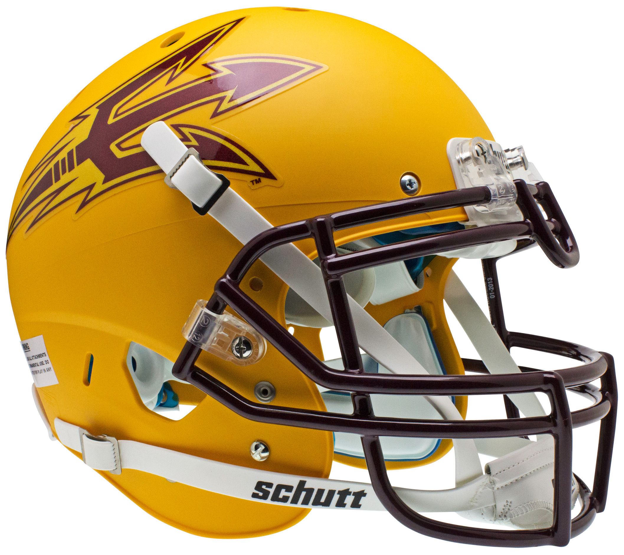 Arizona State Sun Devils Authentic College XP Football Helmet Schutt <B>Matte Gold</B>