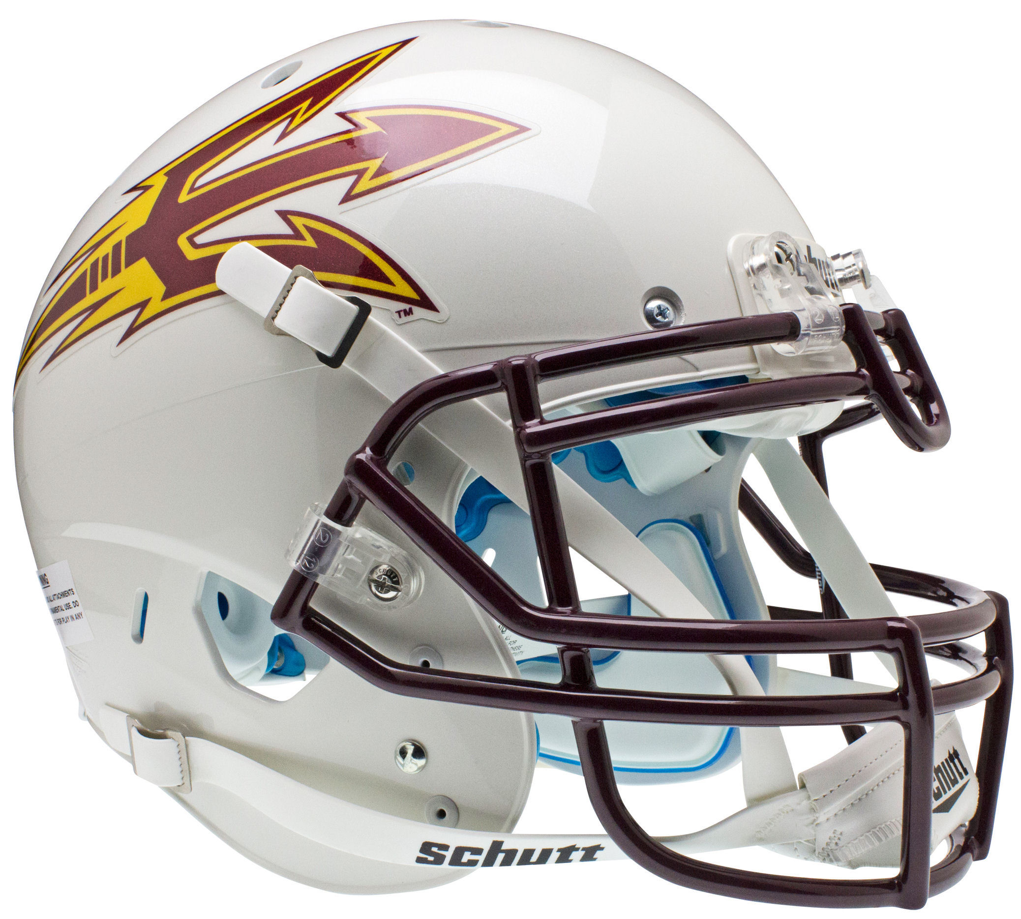 Arizona State Sun Devils Authentic College XP Football Helmet Schutt <B>White</B>