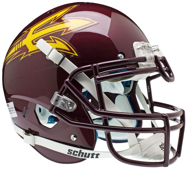 Arizona State Sun Devils Authentic College XP Football Helmet Schutt <B>Maroon</B>