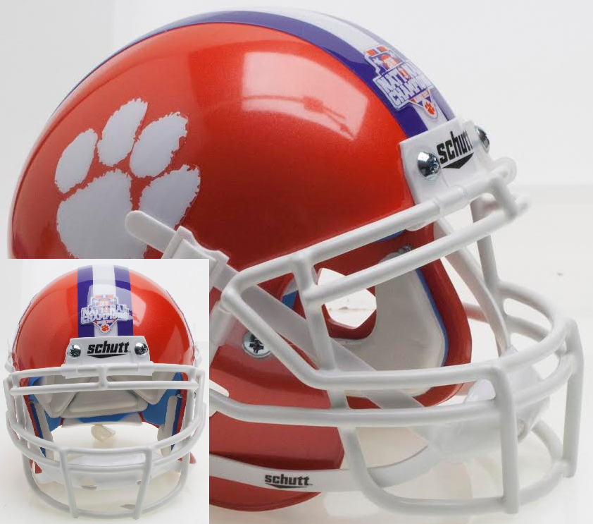 Clemson Tigers Authentic College XP Football Helmet Schutt <B>2016 National Champions</B>