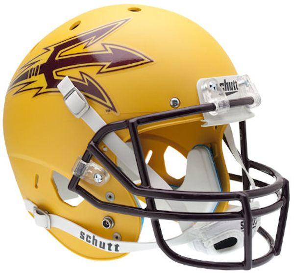 Arizona State Sun Devils Full XP Replica Football Helmet Schutt <B>Matte Gold</B>