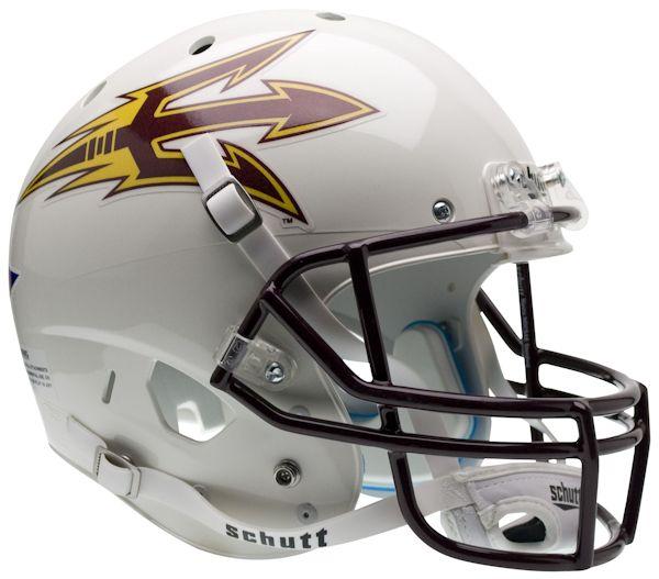Arizona State Sun Devils Full XP Replica Football Helmet Schutt <B>White</B>