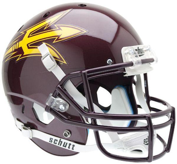 Arizona State Sun Devils Full XP Replica Football Helmet Schutt <B>Maroon</B>