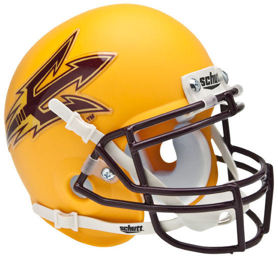 Arizona State Sun Devils Mini XP Authentic Helmet Schutt <B>Matte Gold</B>