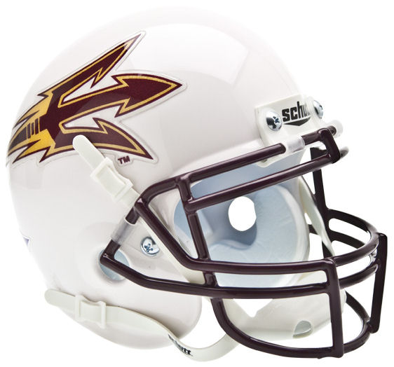 Arizona State Sun Devils Mini XP Authentic Helmet Schutt <B>White</B>