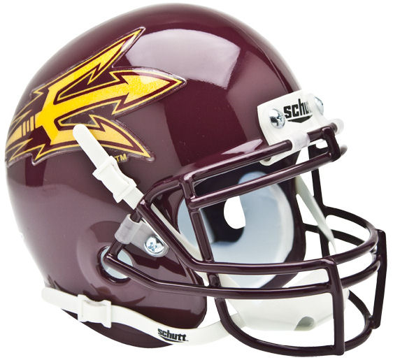 Arizona State Sun Devils Mini XP Authentic Helmet Schutt <B>Maroon</B>