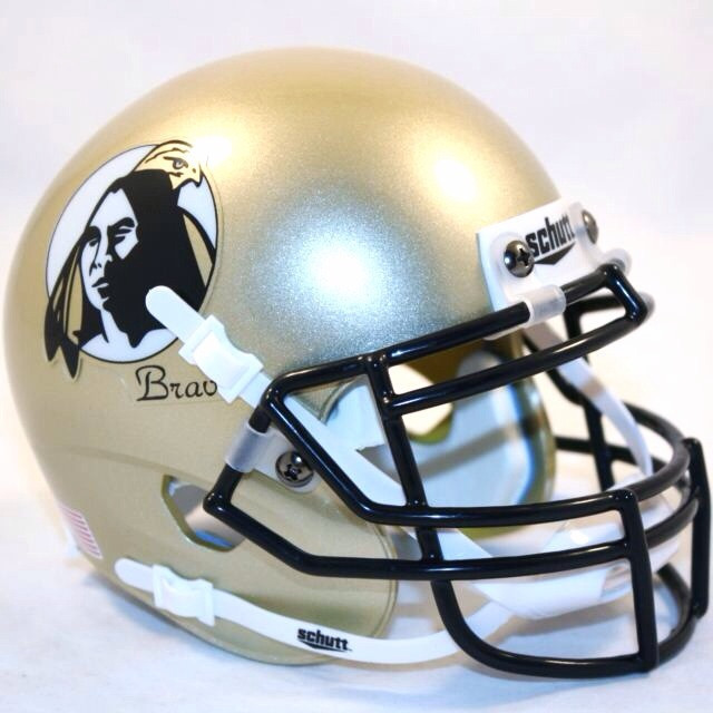 UNC Pembroke Braves Mini XP Authentic Helmet Schutt