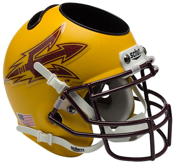 Arizona State Sun Devils Miniature Football Helmet Desk Caddy <B>Gold</B>