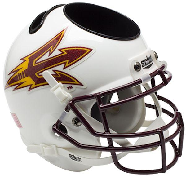 Arizona State Sun Devils Miniature Football Helmet Desk Caddy <B>White</B>