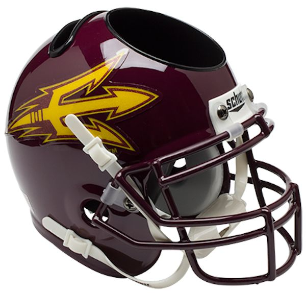 Arizona State Sun Devils Miniature Football Helmet Desk Caddy <B>Maroon</B>