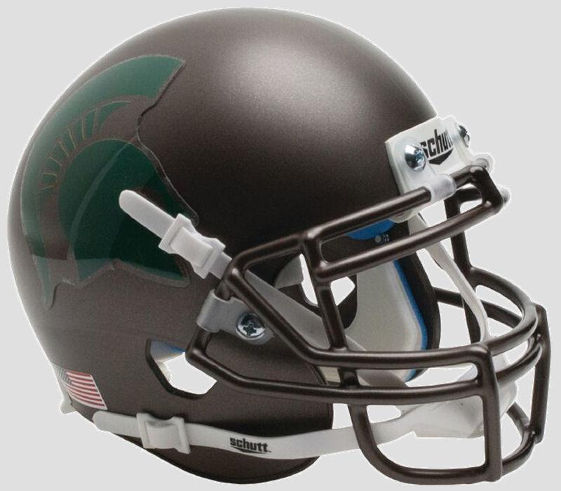 Michigan State Spartans Authentic College XP Football Helmet Schutt <B>Bronze</B>