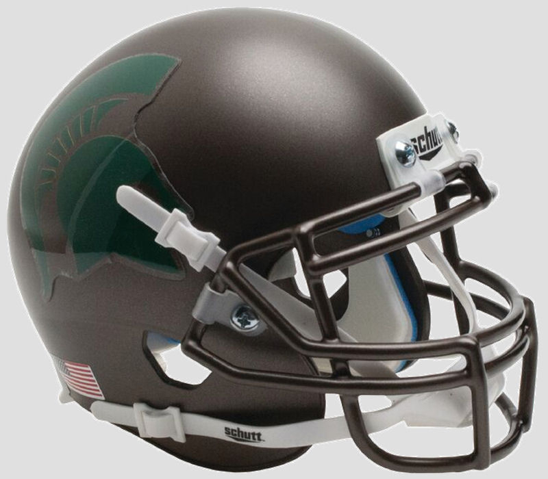 Michigan State Spartans Full XP Replica Football Helmet Schutt <B>Bronze</B>